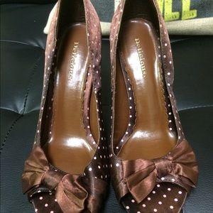 Pink polka dot heels